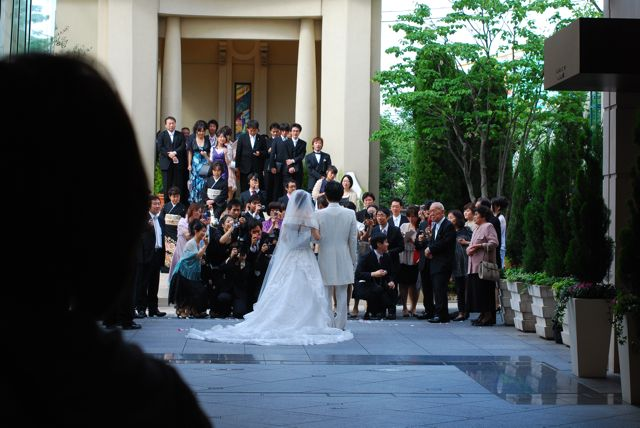 Back of wedding