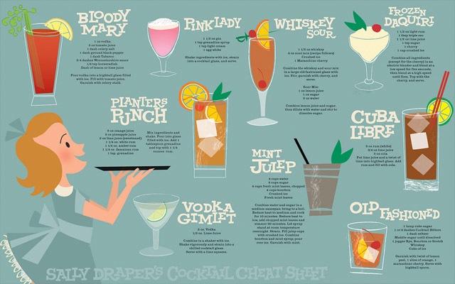 Drink menu mad men