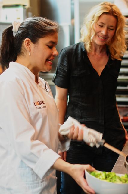 With chef julia