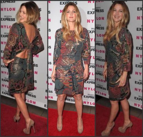 Drew-Barrymore-hits-red-carpet-in-her-thrift-dress-and-spendy-shoes