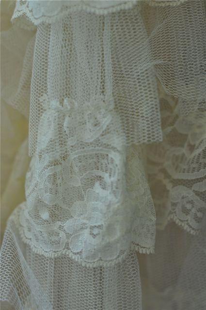 Cream lace close